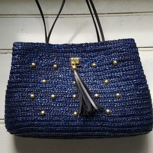 Blue by Saks 5th Ave. Straw shoulder bag